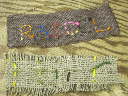 Burlap Weaved Bookmarks 6