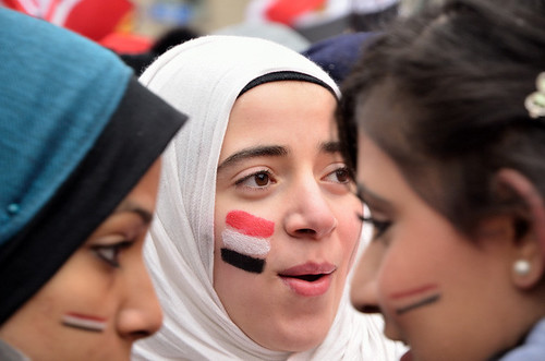 Egyptian demonstration, Dundas Square, Toronto, 2011
