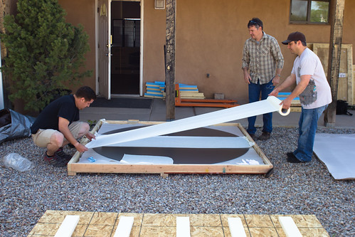 Packing the glass for the 7 foot multitouch wall