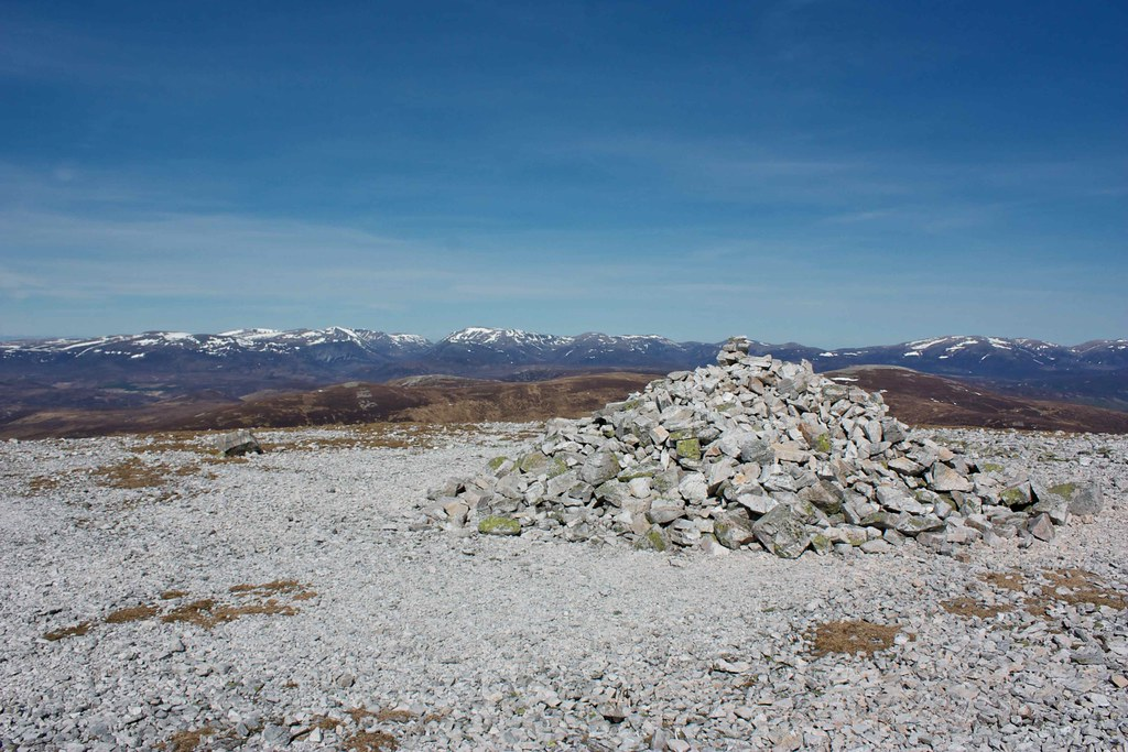 Cairngorms from summit of Beinn Iutharn Mhor