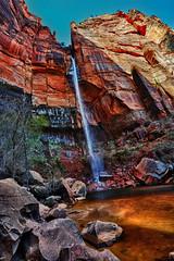 Upper_Emerald_Pool_HDR (robert_vst) Tags: utah waterfall sandstone zionnationalpark nationalparks ponds upperemeraldpool