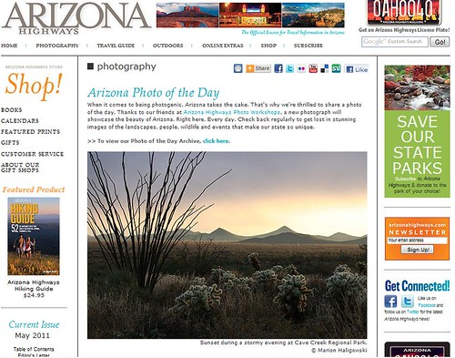 Arizona Highways Photo of the Day - Apr 19 2011