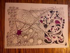 miscellany (lacey709) Tags: color tombowmarkers zentangle zentangleinspiredart dewentinkwatercolorpencils