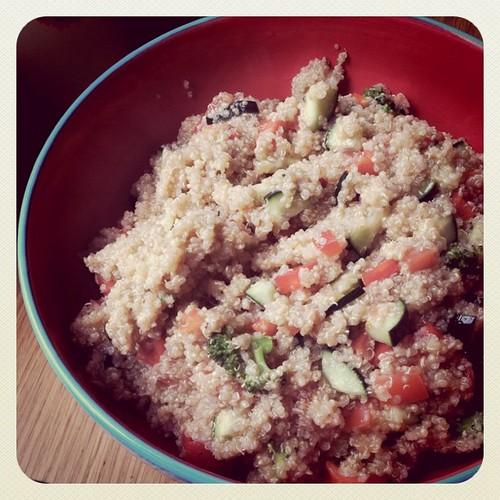 Quinoa Salad completed!!!