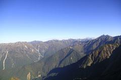 西穂高岳から見た槍ヶ岳