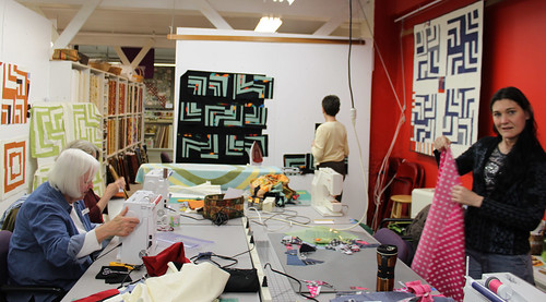 Improvisational Quilting Class, April 2011