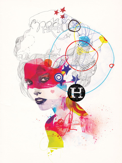 Raphael Vicenzi Illustration - Fashion - Typography - Hero Design