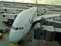 Lufthansa A380 (Matthias Harbers) Tags: airplane am airport frankfurt main airbus a380 lufthansa