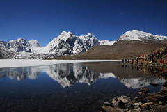 Gurudongmar Lake, North Sikkim,India (S.R.C) Tags: india lake reflection clouds nikon wide d200 himalayas src sikkim nikond200 freshwaterlakes gurudongmar gurudongmarlake highaltitudelakes 17000ft himalayanlakes sumanroychoudhury sumanrc sumanroychoudhurysrc