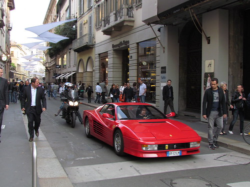 Cruising with the Ferrari