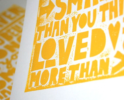raw art letterpress