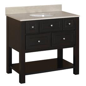vanity 2 shelf 36in