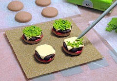 Mini Burger - Work in Progress (2 of 2) (weggart) Tags: miniature burger mini polymerclay fimo fries minifood weggart