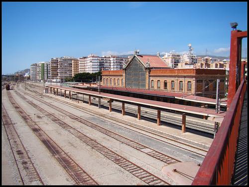 Vías del tren Estación Almería