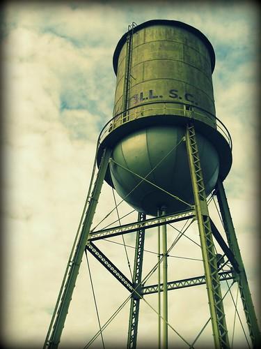 Estill Water Tower cross process vignette