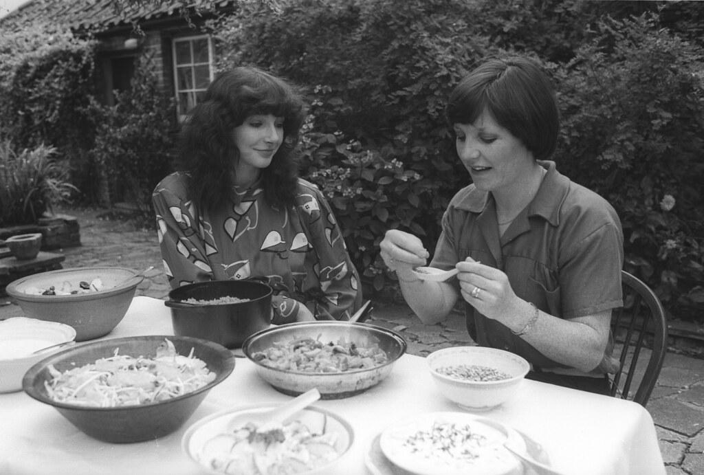 Delia Smith and singer Kate Bush