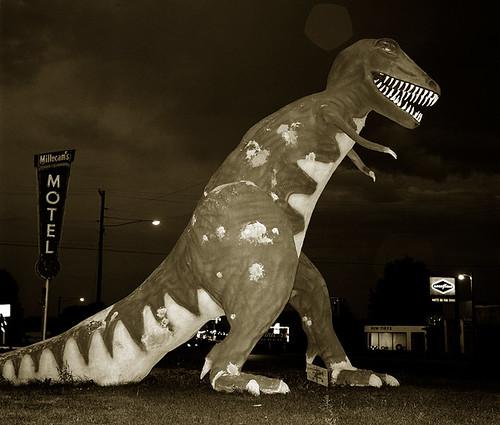 Steve Fitch, Dinosaur, Highway 40, Vernal, Utah, 1974