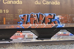 Live (A & P Bench) Tags: street art train graffiti fan steel rail railway covered oil graff freight prices wheaties hoppers benching