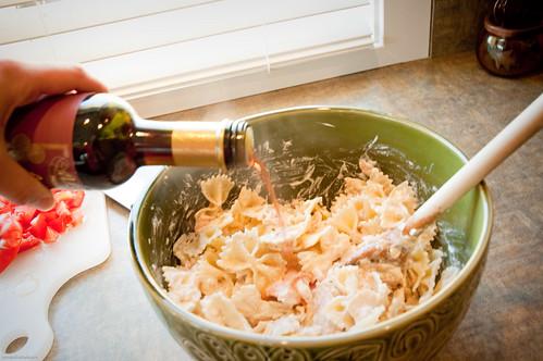 Tuna pasta salad, yum.