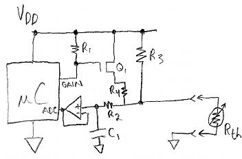 thermistor-measuring circuit
