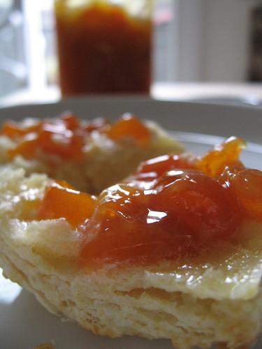 kumquat-ginger marmalade