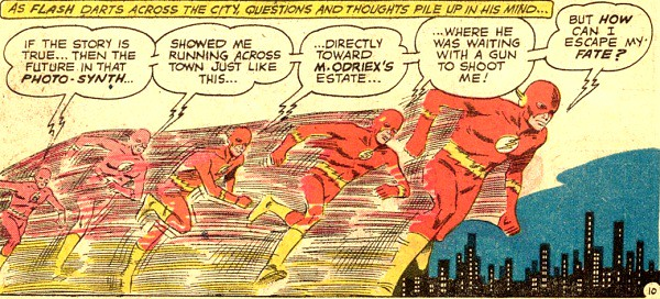Panel of Super Speed by Carmine Infantion from Flash 116 1960