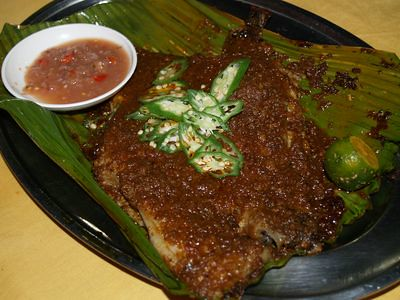 Ray fish in sambal