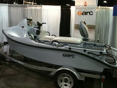 GARC rescue boat at the Tactronics booth.