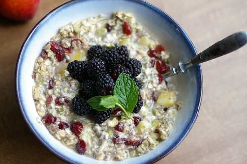 Cranberry Pumpkin Seed Vegan Overnight Oats