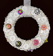 Button & Button Flowers Wreath (Sharon at STYROCrafts) Tags: buttons wreath buttonflowers buttonwreath