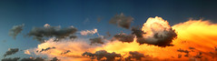 May Twenty-Eighth. (redaleka) Tags: sky art colors beautiful beauty clouds stitch artistic cloudy drawing happiness multiple 17 maytwentyeighth threehundredsixty cloudypanorama