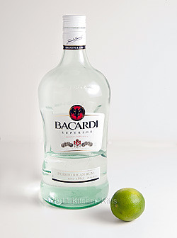 Bacardi white rum and lime are ingredients in the classic daiquiri width=
