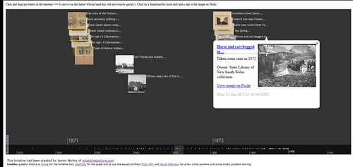 Screengrab: Flickr Commons interactive timeline