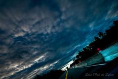 Flying on the road (Sous l'Oeil de Sylvie) Tags: auto sky motion car clouds construction automobile pentax ciel nuage hdr beauce lightroom vitesse sigma1020mm k7 route73 photomatix rouler sousloeildesylvie
