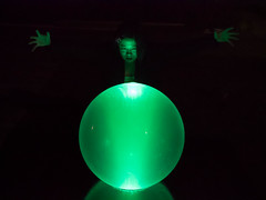 P1010761 (Scott Atwood) Tags: green globe glow magick witch sinister magic heavymetal eerie spell glowing crystalball greenorb locnar
