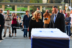 Mrs Sara Netanyahu Pays her Respects to the Late President Shimon Peres (Prime Minister of Israel) Tags: jerusalem israel isr