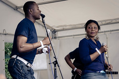 Soukous Revelation (Roger Hanuk) Tags: african england peacegardens sheffield singer southyorkshire stage tramlines unitedkingdon uk