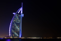Burj Al Arab - Dubai, United Arabic Emirates (WOfoto) Tags: architecture modern burj al arab dubai emirates wofoto nikond5200 d5200 sigma1750mmf28 longexposure le night evening light gorilla pod tripod
