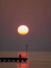 Sun & Sea (Riccardo Palazzani - Italy) Tags: jesolo sunrise alba dawn sea sun lido veneto italy red sky