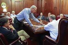 10-06-16 Sen. Orr, Falkville Mayor Bob Ramey, Town Council Meeting