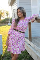 The Boho Dress (Art Gallery Fabrics) Tags: pink blue color green fashion yellow modern vintage dress pu