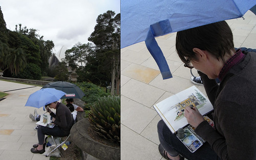 110326 Sketching in the rain1