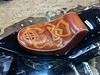 Leather Chopper seat - Finished (Marius Mellebye / 276ccm) Tags: leather chopper dragon harleydavidson motorcycle celtic lacing toolong mariusmellebye leathercraft leathercarving 276ccm naturalvegtanned