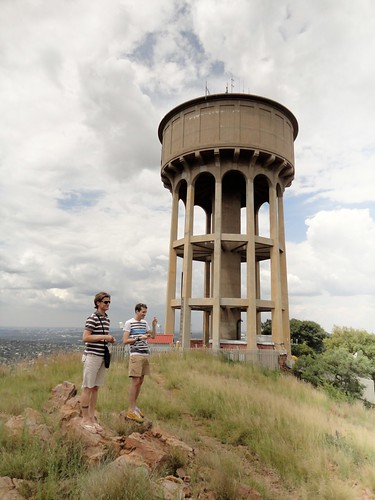 Water tower over Jo'burg with Dakin and Michael