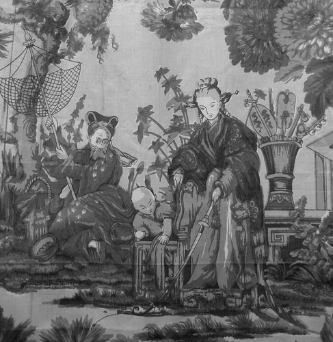 Antique Fabric Panel