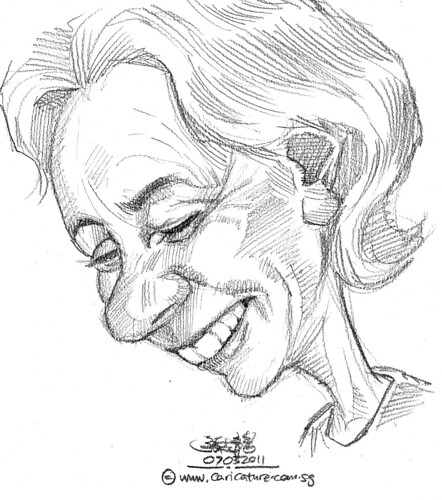 old lady caricature