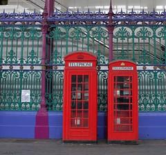 Grade II Listed Telephone Kiosks: Smithfield Market (Curry15) Tags: london castiron k2 smithfield telephonebox k6 ec1 cityoflondon victorianarchitecture meatmarket 1935 1926 redphonebox grandave telephonekiosk gradeiilisted sirhoracejones sirgilesscott canoneos500d tudorcrown centralmarketssmithfield 91charterhousest