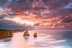 Sunrise at Gibsons Steps (-yury-) Tags: ocean sunset sea sky nature water sunrise canon landscape australia victoria 5d vic greatoceanroad twelve apostles