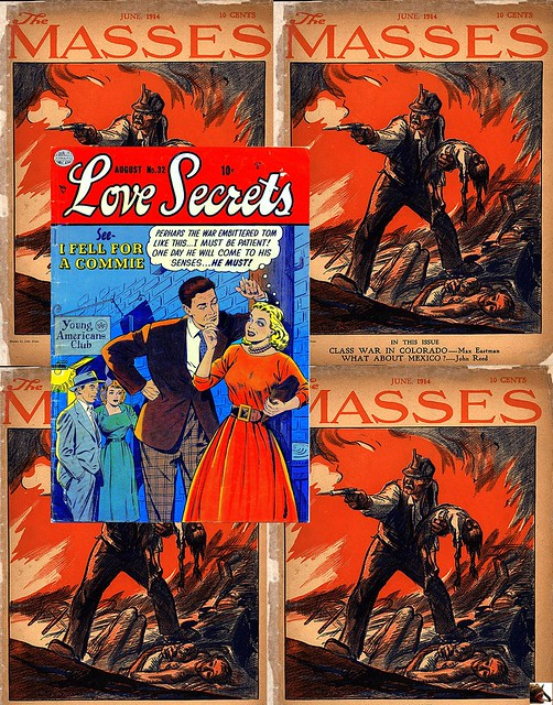 quot I  FELL  FOR  A  COMMIE quot  -  LOVE  SECRETS  ( Quality )   32  August  1953  Cover Ogden WHITNEY -- quotThe Massesquot June 1914 Cover artist John Sloan by mhdantholz