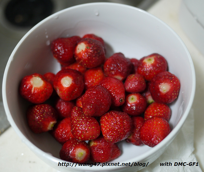 20110331-02麵包機做草莓果醬